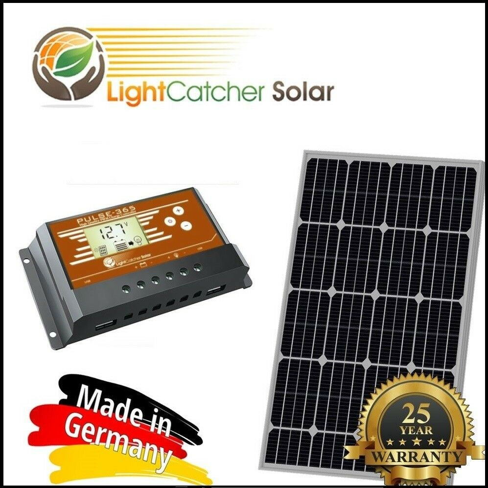 100 Watt Mono Solar Panel Kit With Charge Controller 100w 12v Rv Off Details About 12 Volt Circuit Charger Battery Grid German 1 Of 5free Shipping See More