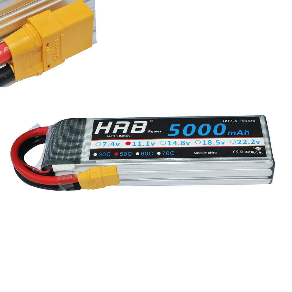 hrb 11 1v 5000mah 3s lipo battery 50c 100c traxxas plug. Black Bedroom Furniture Sets. Home Design Ideas