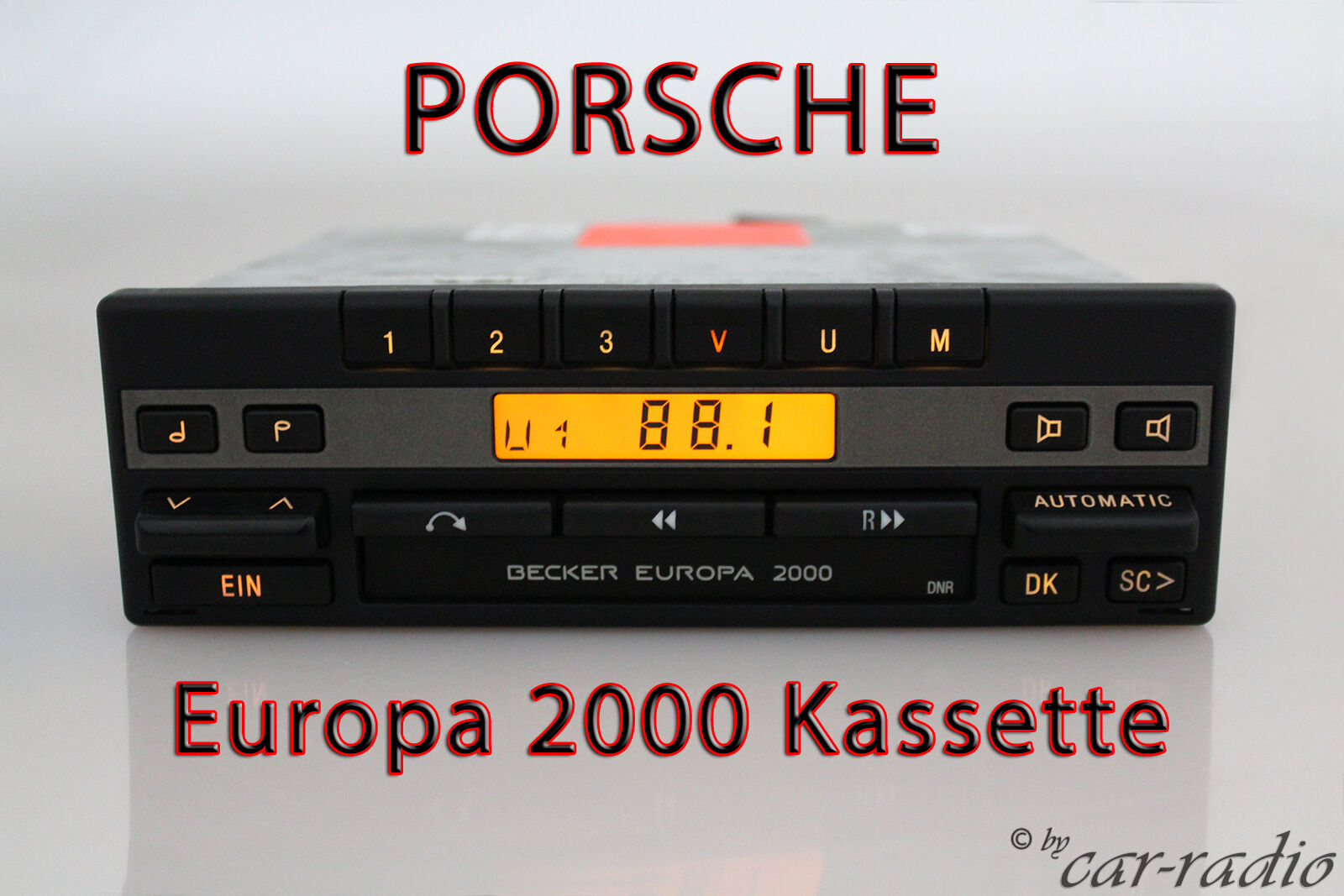 porsche radio becker europa 2000 be1100 kassette oldtimer. Black Bedroom Furniture Sets. Home Design Ideas