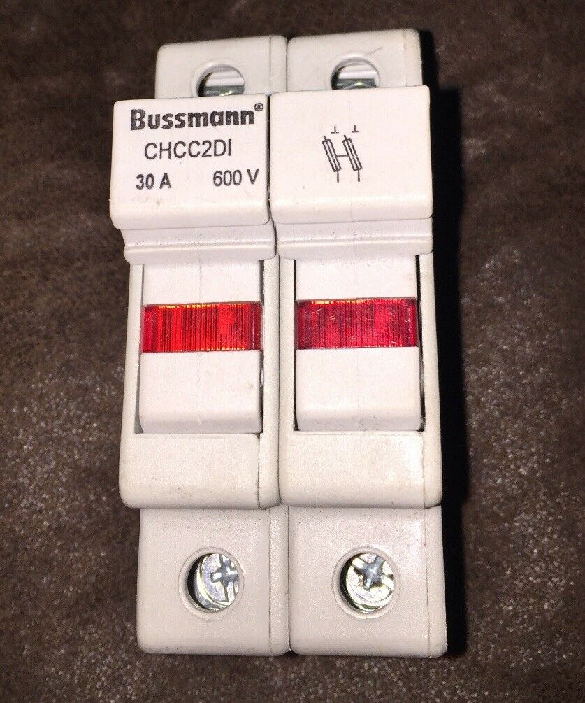 Bussmann Fuse Box Holder Chcc2di 30a 30 A Amp 600v 1000 Picclick 1 Of 1only Available