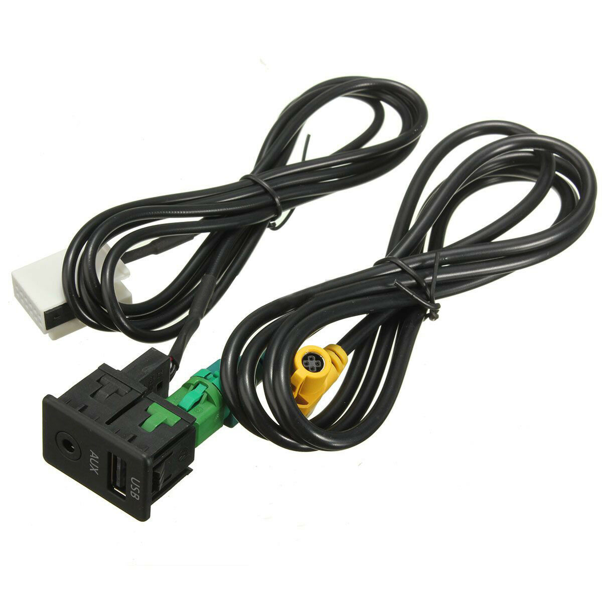USB AUX SWITCH & USB Wire Cable Adapter For 3 5 series E87 E90 E91 ...