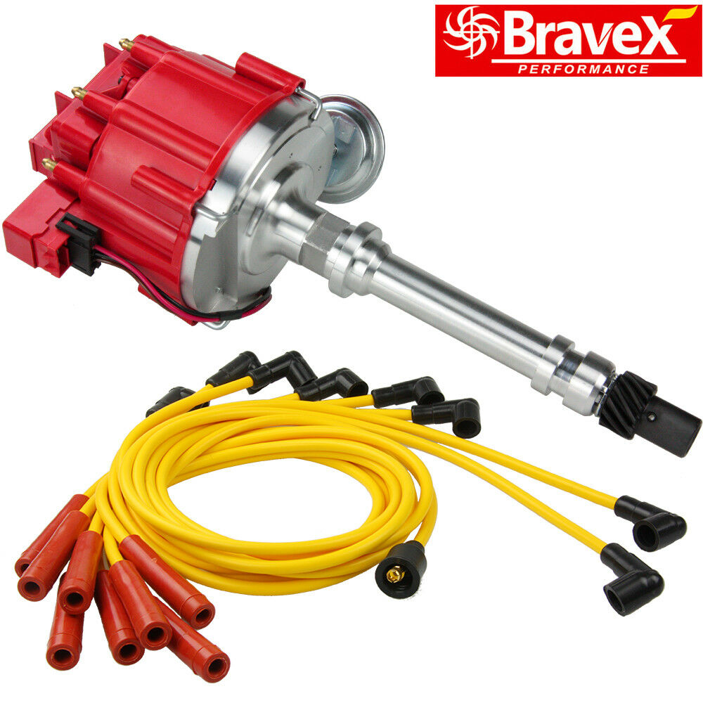 Chevy Sbc 305 350 Bbc 454 Hei W Red Cap Distributor 65k With Spark Wiring 1 Of 12only 0 Available