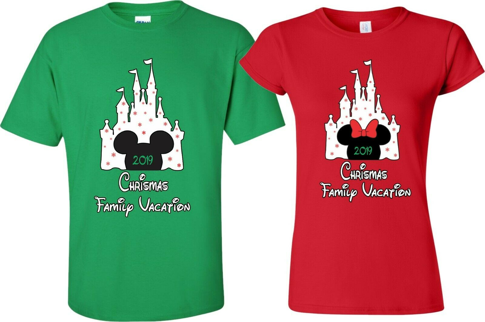new disney castle family christmas vacation 2018 t shirts minniemickey 1 of 6free shipping