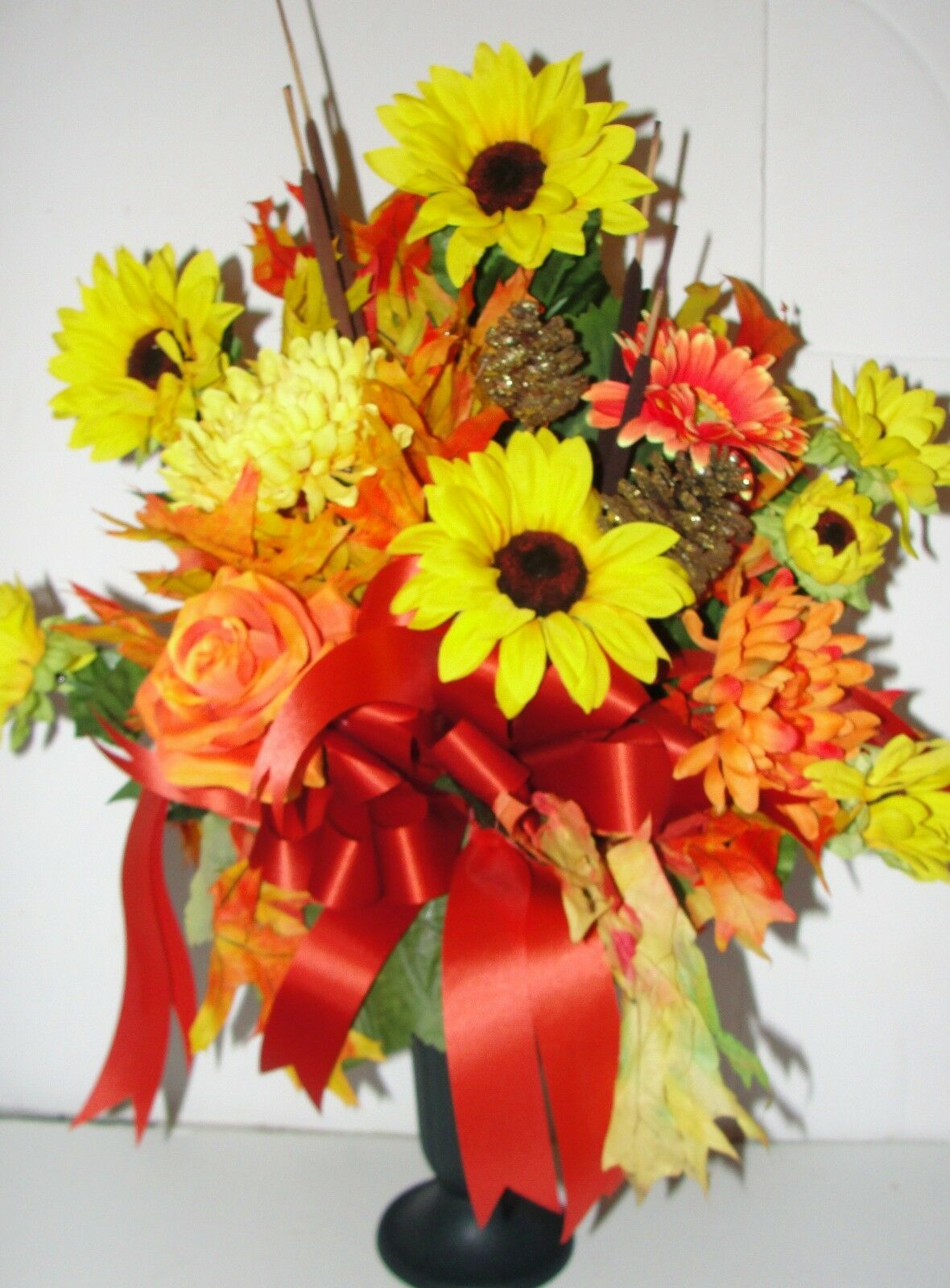 Cemetery Flowers Thanksgiving Arrangement Harvest Appreciation Grave