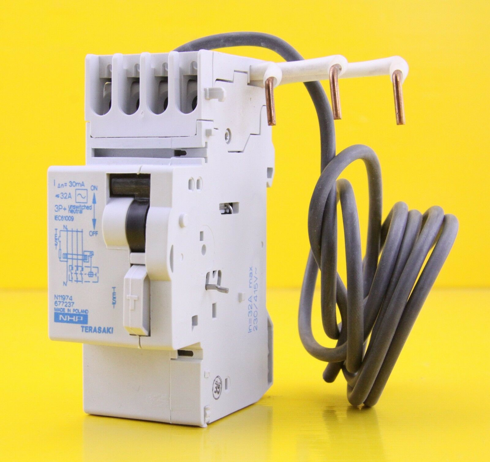 Nhp Terasaki Dsrcm32303pn Rcd Add On Din Safe 230 415v Ac 32a 3p N A Circuit Breaker 1 Of 12free Shipping