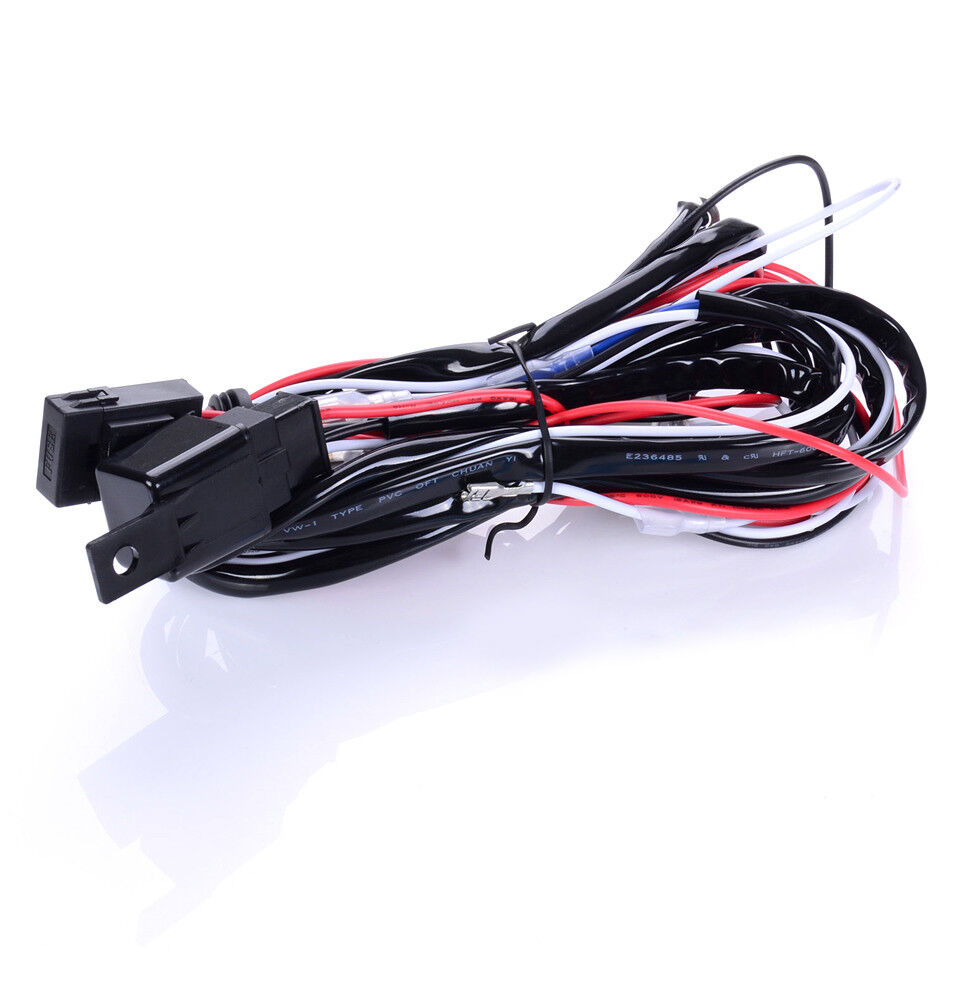 New 12v Led Work Fog Light Bar Wiring Harness Relay Kit On Off For Bars Switch 1 Of 9 See More