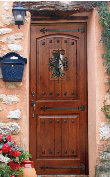 Tuscany Arch Top Knotty Alder Rustic Single Entry Door 148400