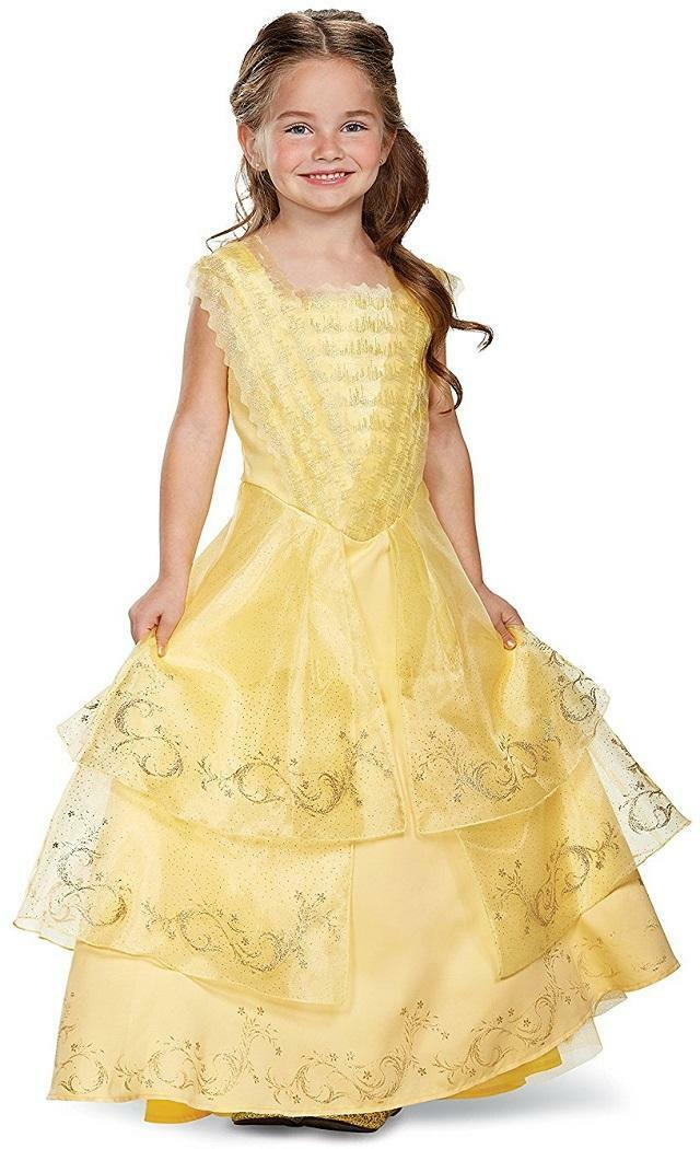 BELLE BALL GOWN Disney Beauty Beast Fancy Dress Halloween Deluxe ...