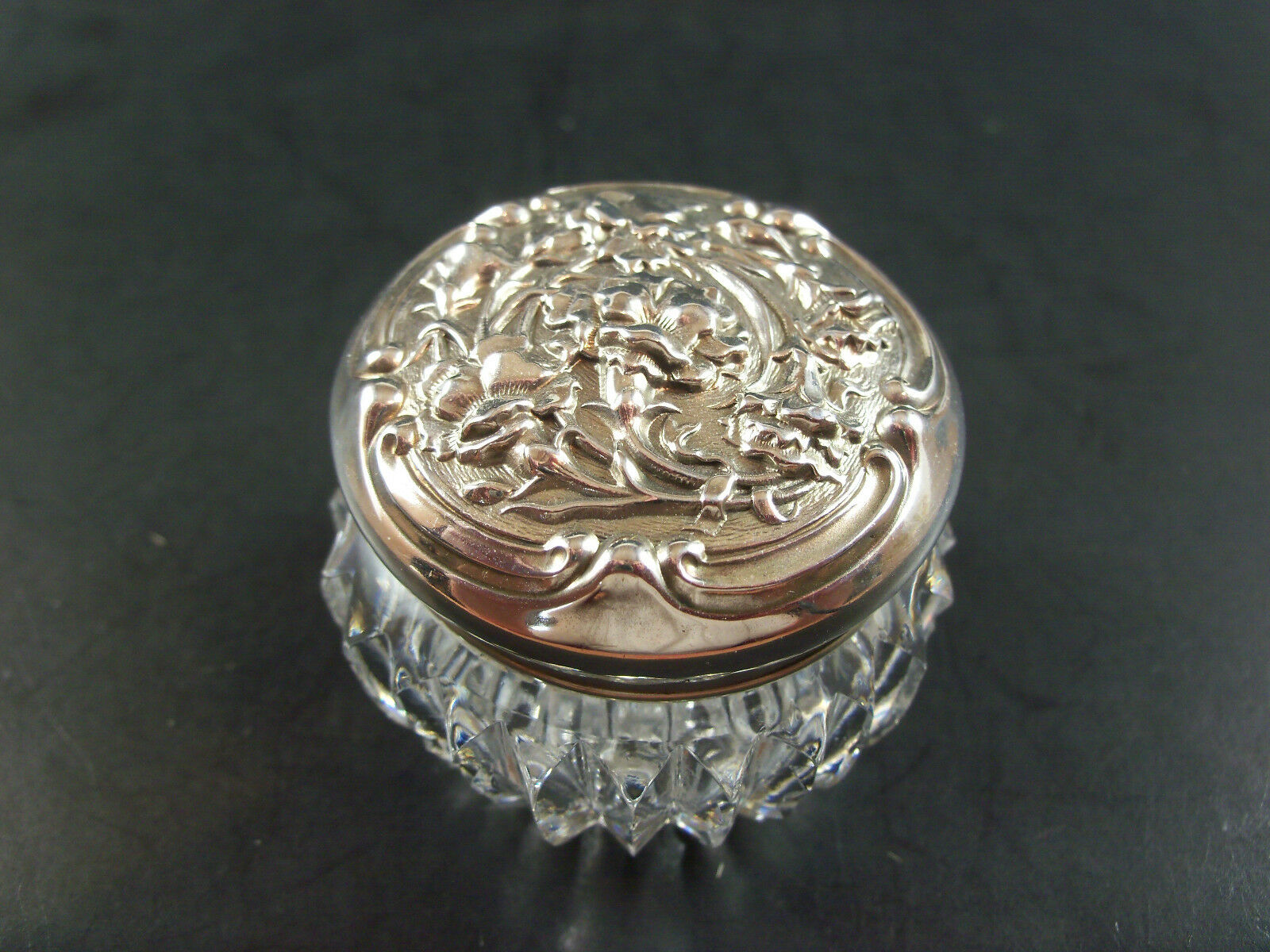 Rare unger brothers iris flowers sterling abp cut glass dresser 1 of 8 see more izmirmasajfo
