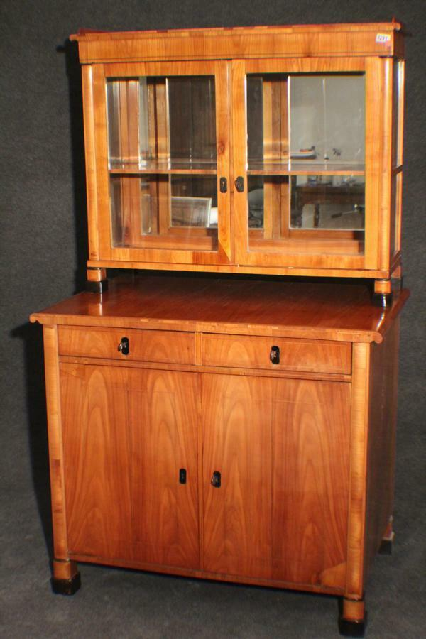 biedermeier kirschbaum buffet kommode vitrine aufsatz 1830 2282 eur picclick de. Black Bedroom Furniture Sets. Home Design Ideas