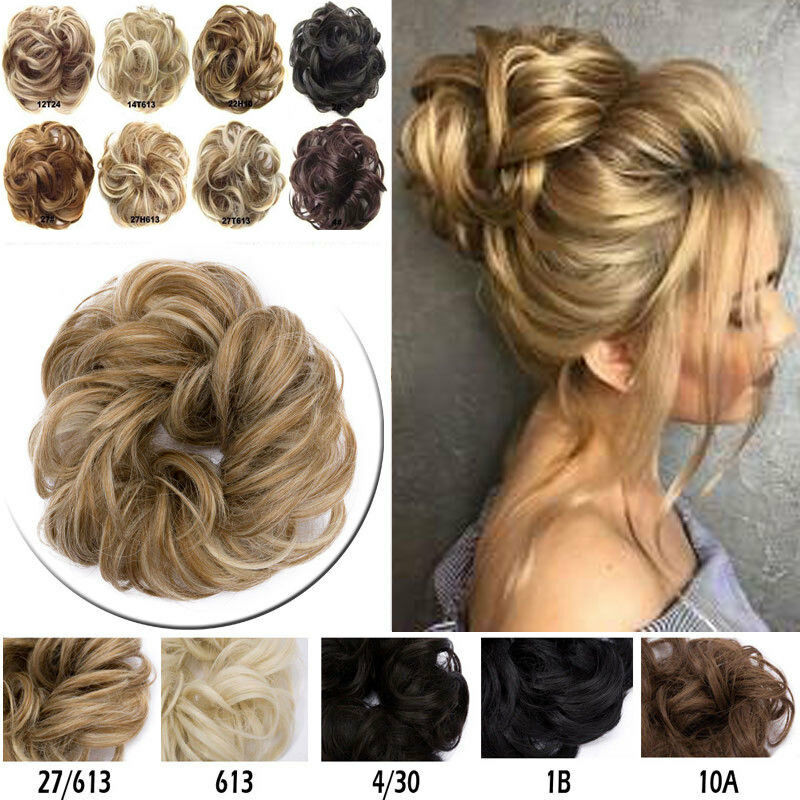 Synthetic Curly Hair Extensions Hairpiece Bun Updo Scrunchie Pony