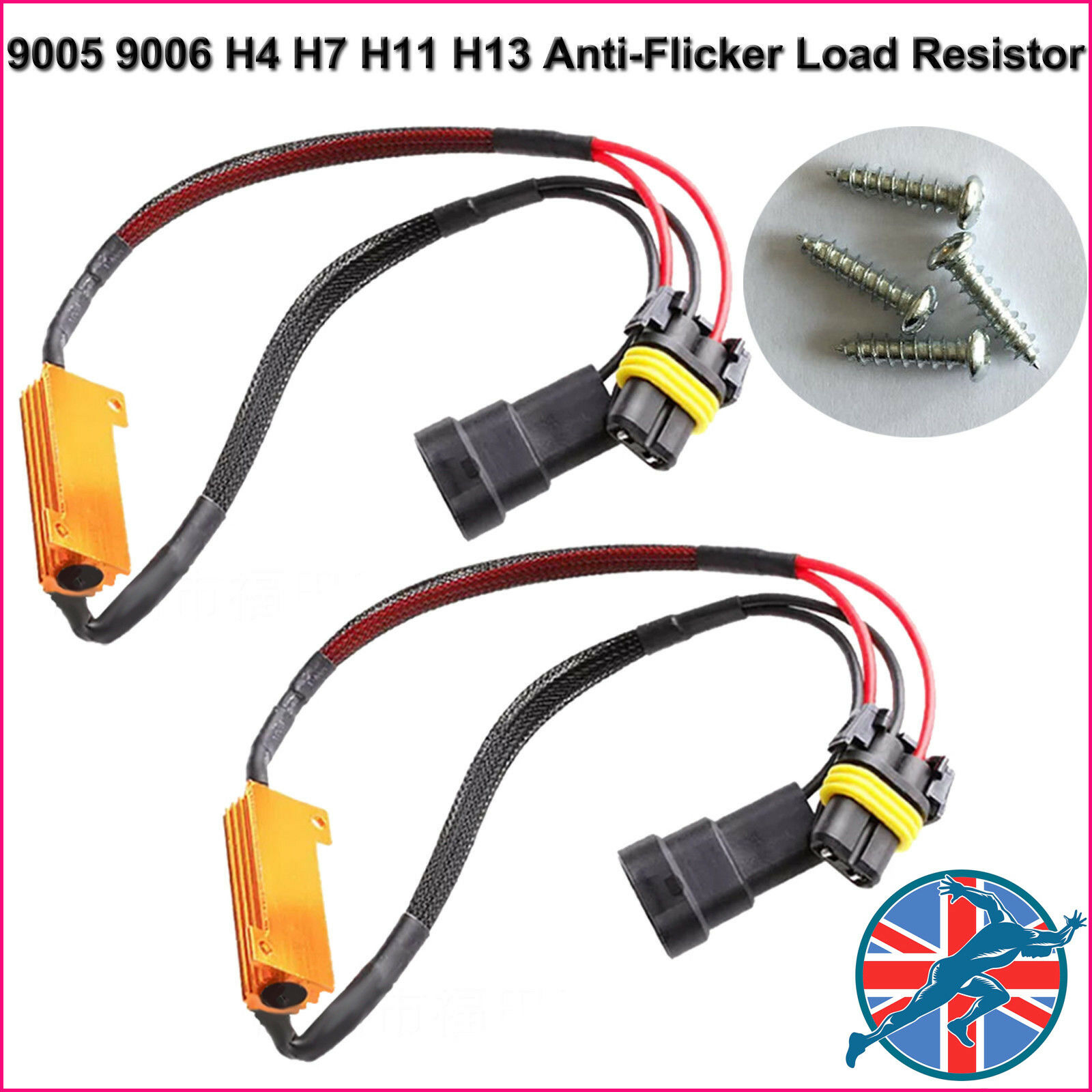 2pc H4 H7 H11 9005 9006 Led Hid Light Canbus Load Resistor Canceller 12v Fog Lamp Wiring Warning Decoder Hot 1 Of 6free Shipping See More