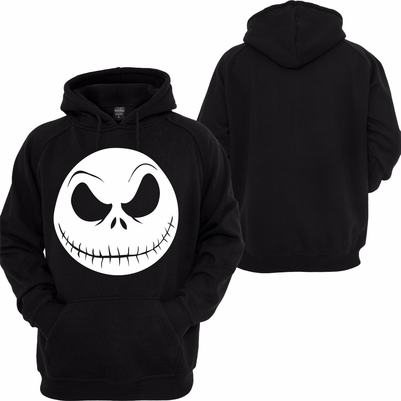 NIGHTMARE BEFORE CHRISTMAS Hoodie Jack Skellington Face Disney ...
