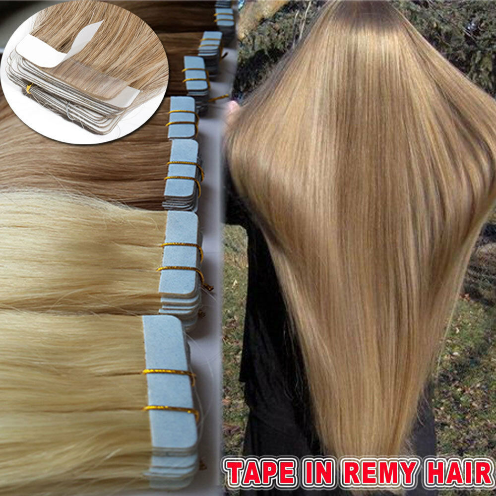Virgin Remy Human Hair Extensions Keratin Fusion Tape In Seamless