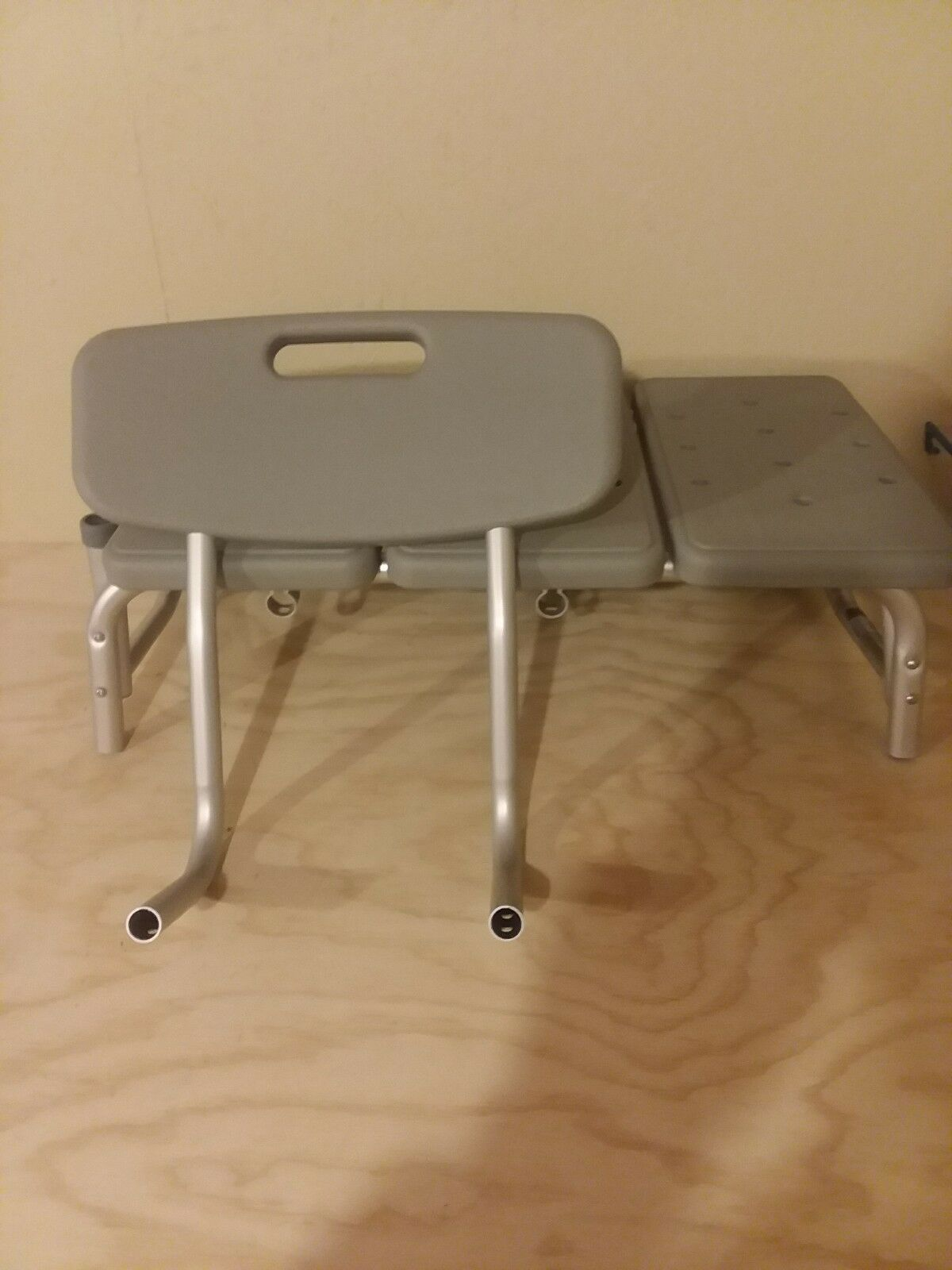 DRIVE Medical Plastic Transfer Bench with 3 Position Backrest, Gray ...