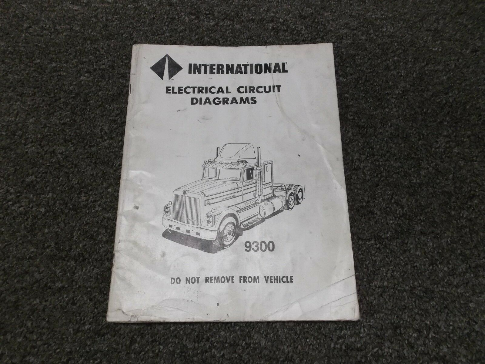 1988 International 9300 9370 Truck Electrical Wiring Circuit Diagram 1949 Manual 1 Of 1only Available
