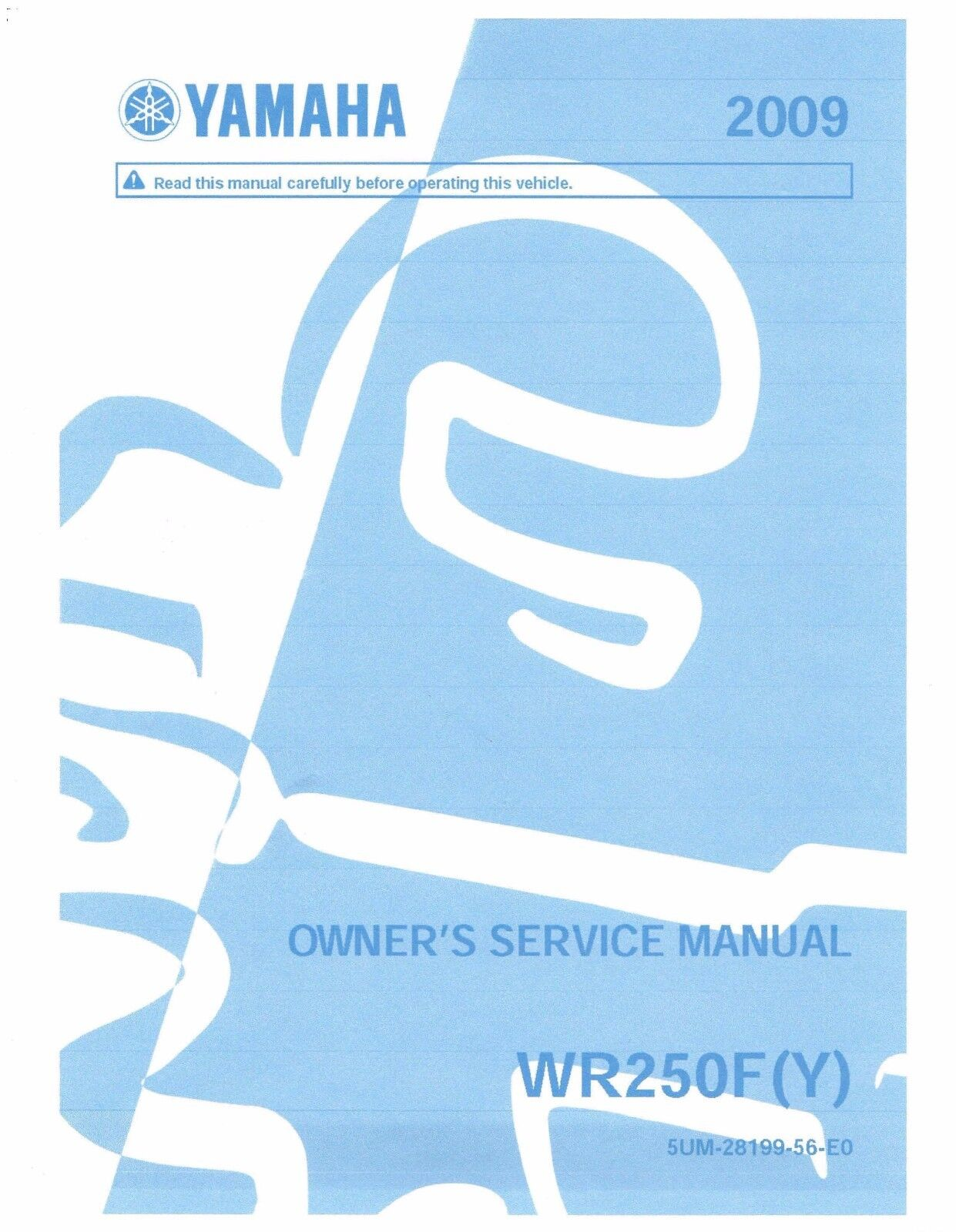 Yamaha owners service workshop manual 2009 WR250F (Y) 1 of 12Only 1  available ...
