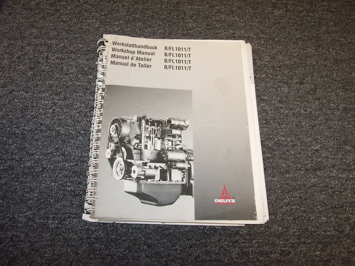 Deutz B1011 B1011T FL1011 FL1011T Engine Workshop Shop Service Repair Manual  1 of 1Only 1 available ...