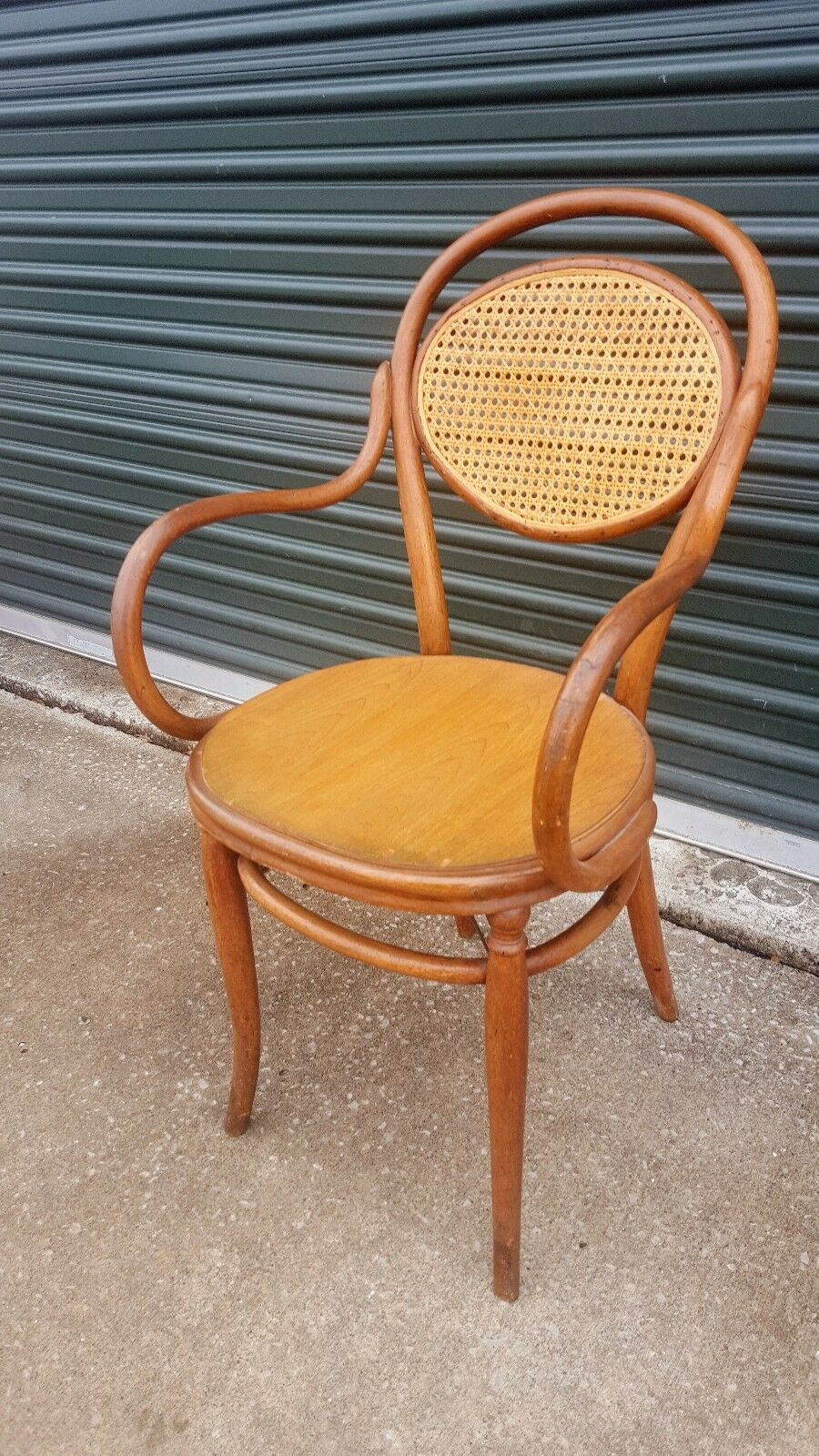 Vintage Bentwood Cane Captain Arm Chair Thonet Style Phoenix 1 Of 12only Available