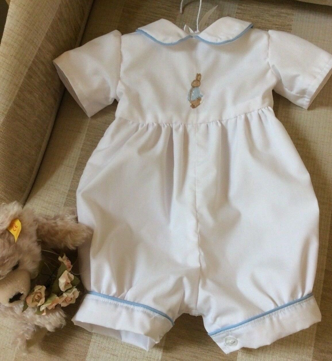 BABY BOYS ROMPER Suit - Peter Rabbit - Baptism Outfit - Christening ...