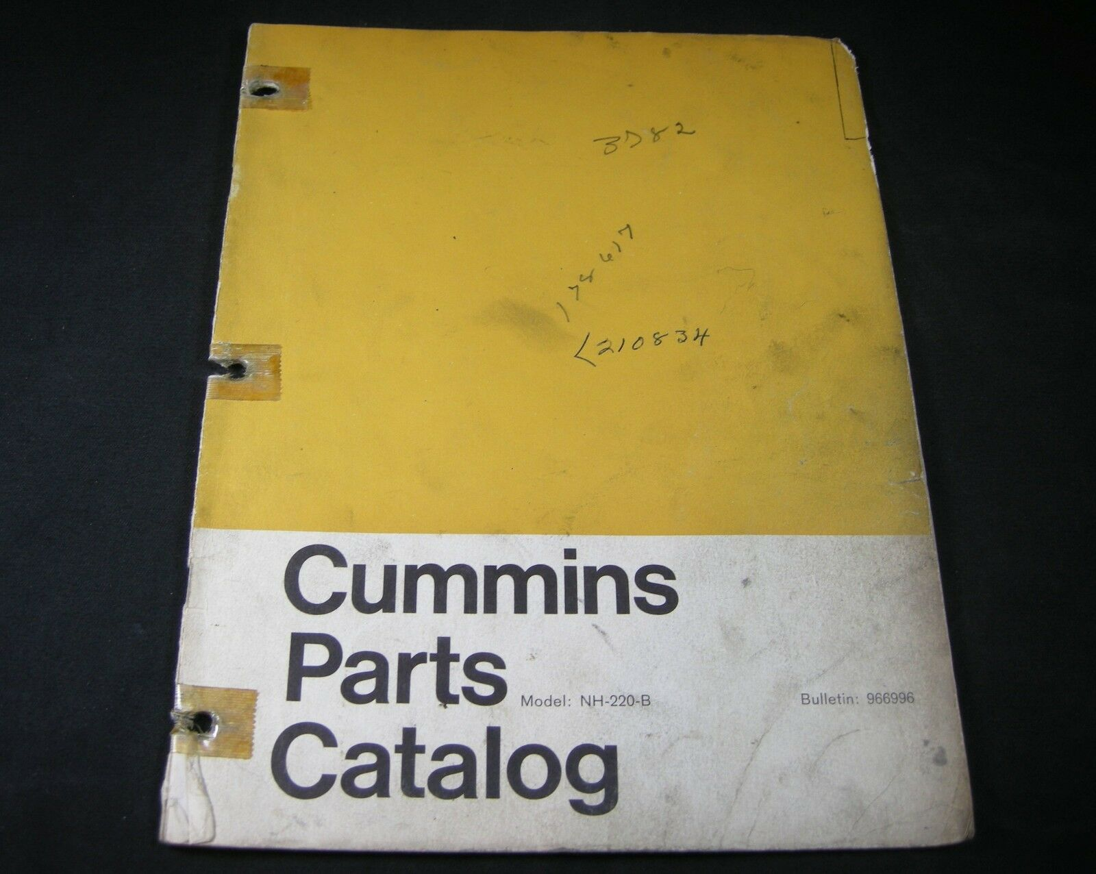 Cummins Nh 220 B Diesel Engine Parts Manual Book Catalog Nh220b Kawasaki Diagram 1 Of 2only Available