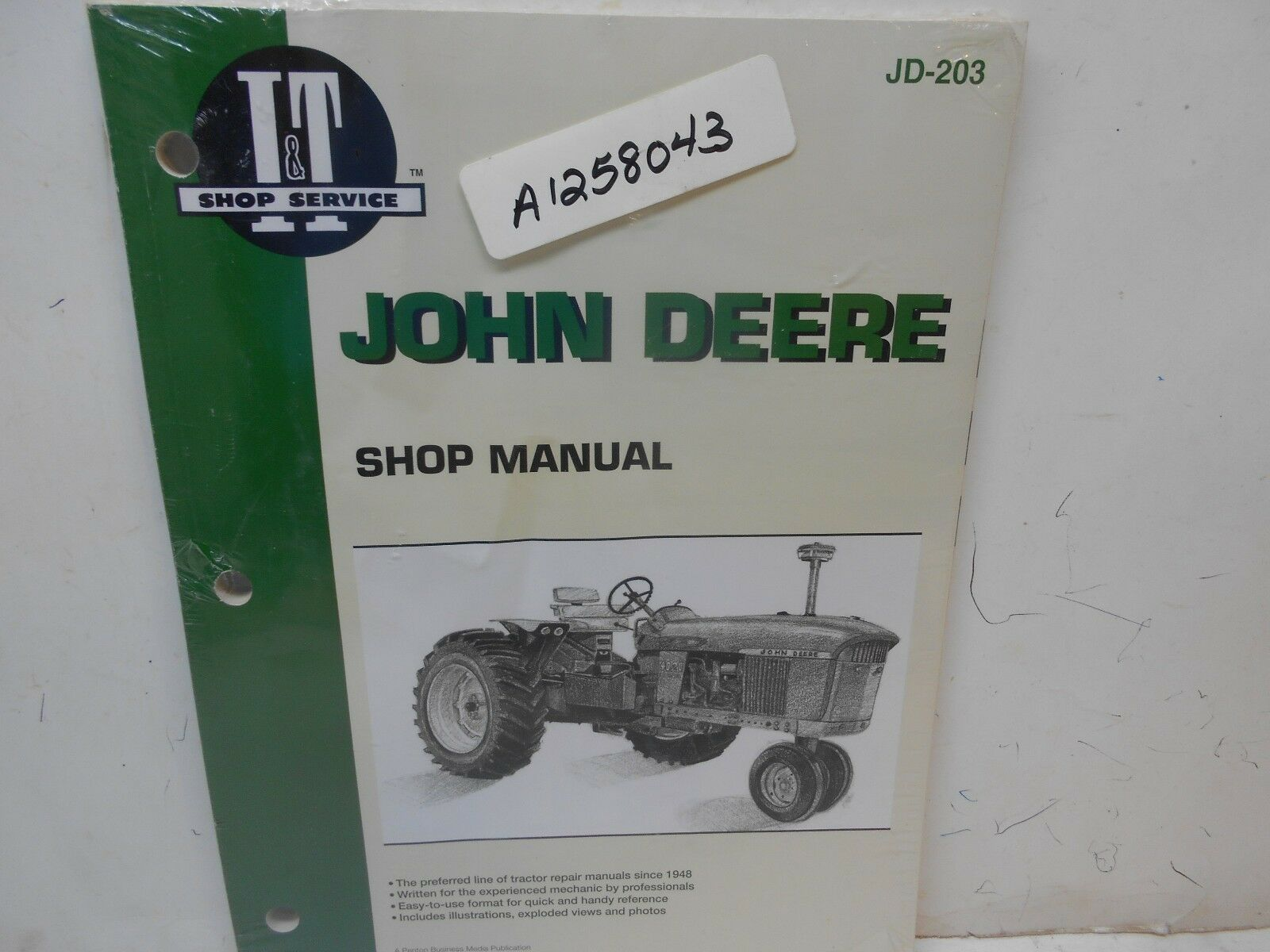 new IT John Deere shop manual for JD-203 tractor manuals 1 of 2Only 2  available See More