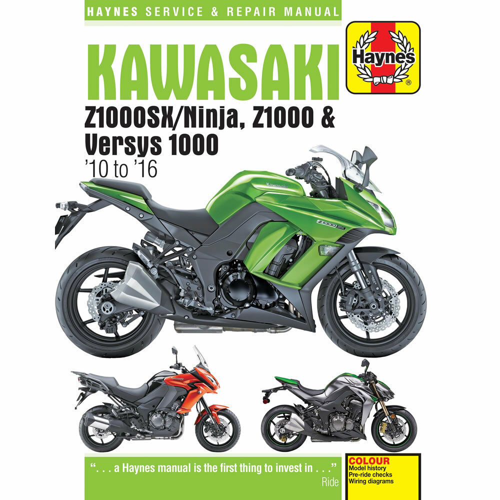 Kawasaki Z1000 Z1000SX Versys 2010-16 Haynes Workshop Manual 1 of 1FREE  Shipping ...