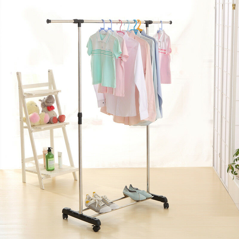 Portable And Expandable Garment Rack In Black Chrome 18 Months Gorgeous Expandable Garment Rack Arm Designs