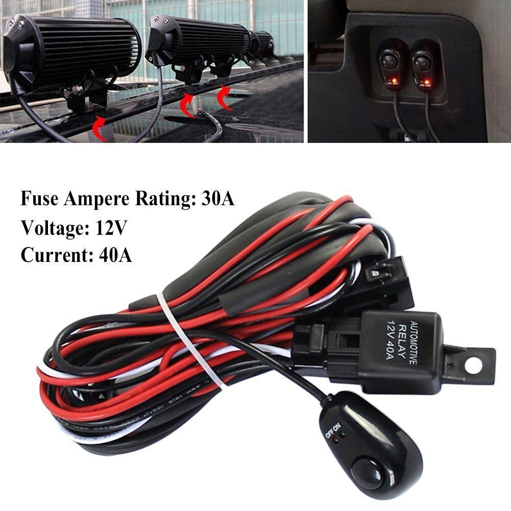 Leds Light Bar Wiring Harness Remonte Control Switch Kit Offroad 12v Off Road Work 1 Of 10only 5 Available See More