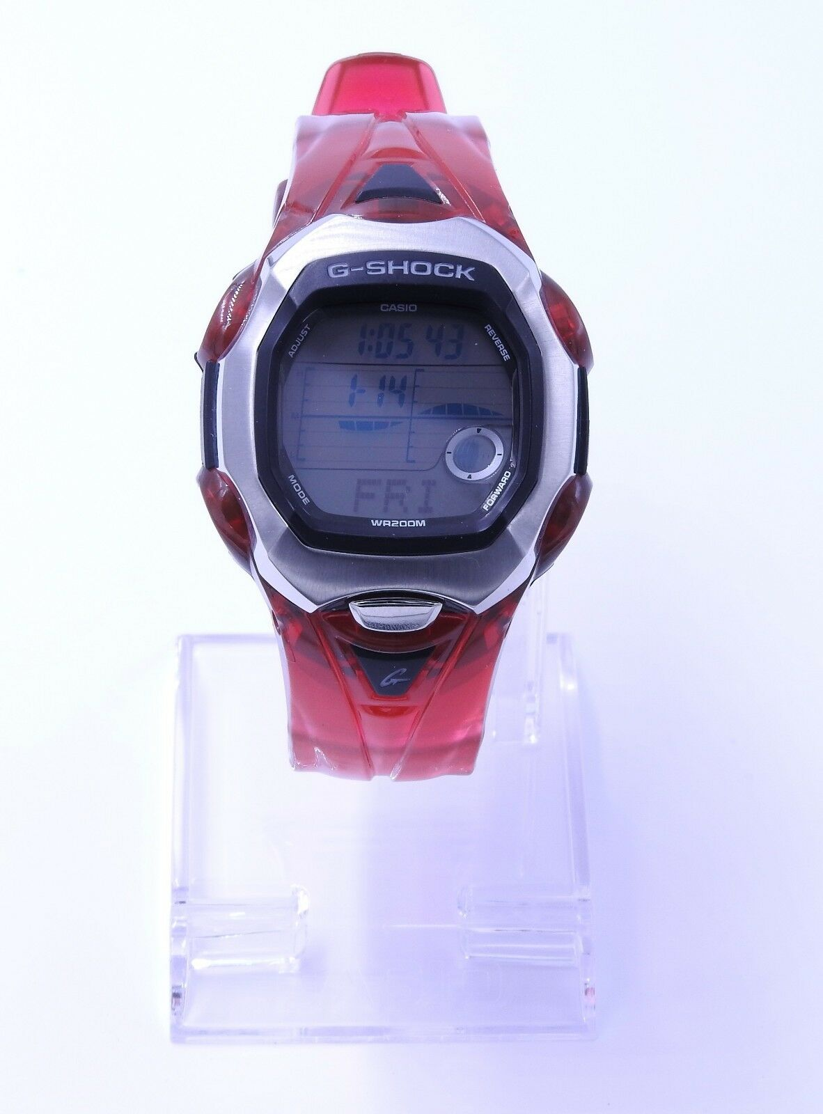 Casio G Shock Gl 150 4 Jelly Red Lide Rare Digital Mens Watch 200m Gax 100a 7adr Origina 1 Of 7only Available