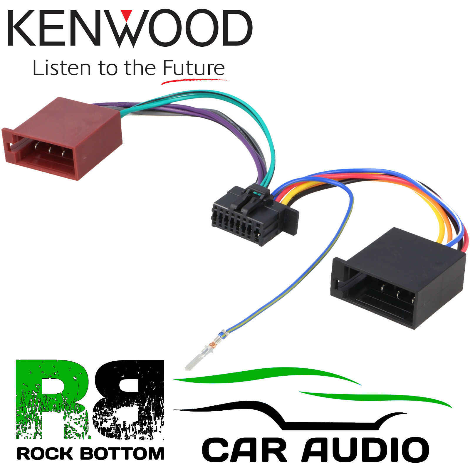 Kenwood Kdc Bt510u Car Radio Stereo 16 Pin Wiring Harness Loom Iso 1 Of 1free Shipping