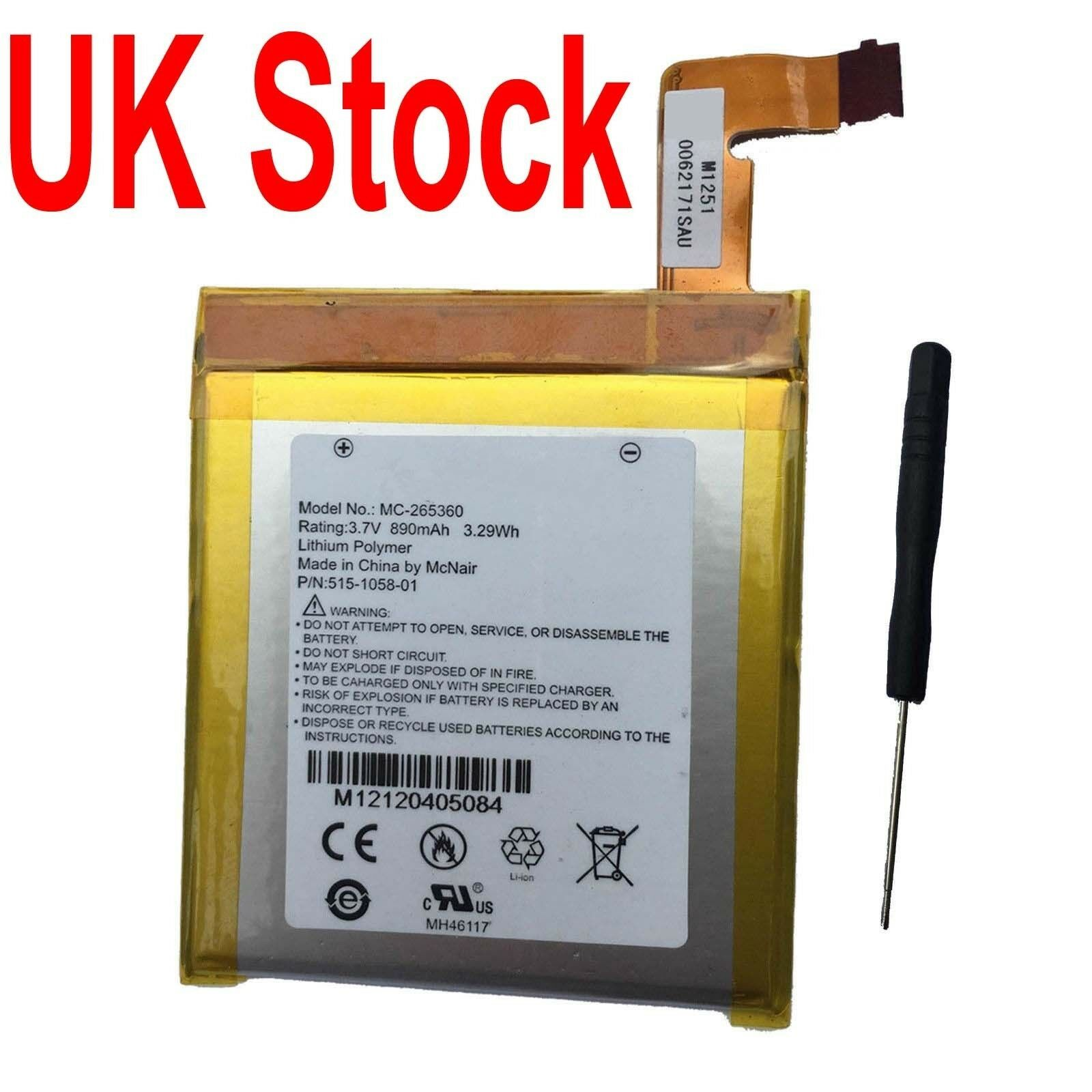 New Battery For Amazon Kindle 4 5 6 4g Wifi D01100 Do1100 Mc 265360