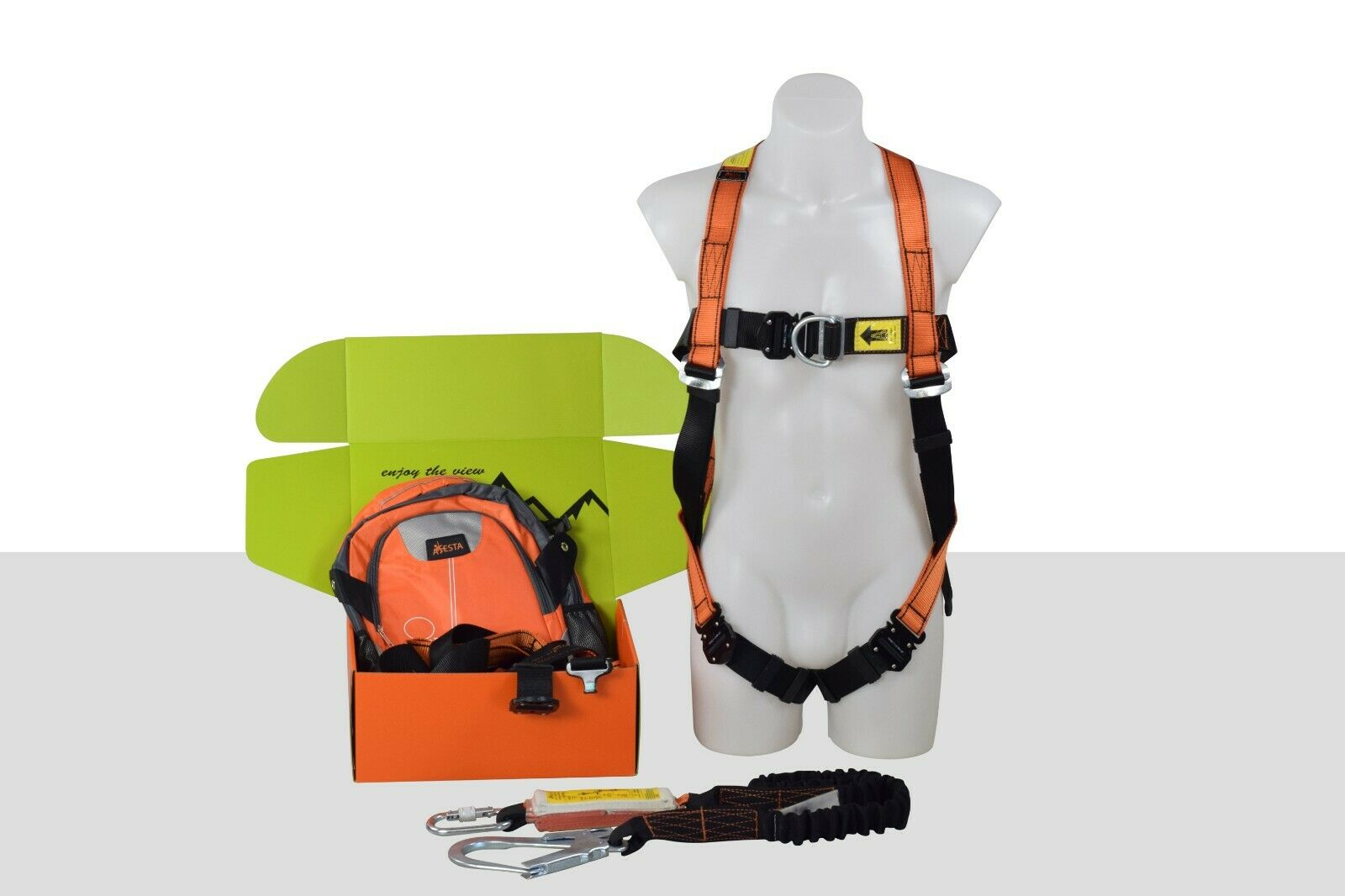 Aresta Safety Harness Kit Eeze Klick 2 Meter Lanyard Roofing 1 Of 7 See More