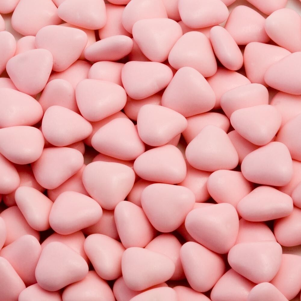 MINI PINK HEART Shaped Chocolate Dragees Wedding Favours valentines ...