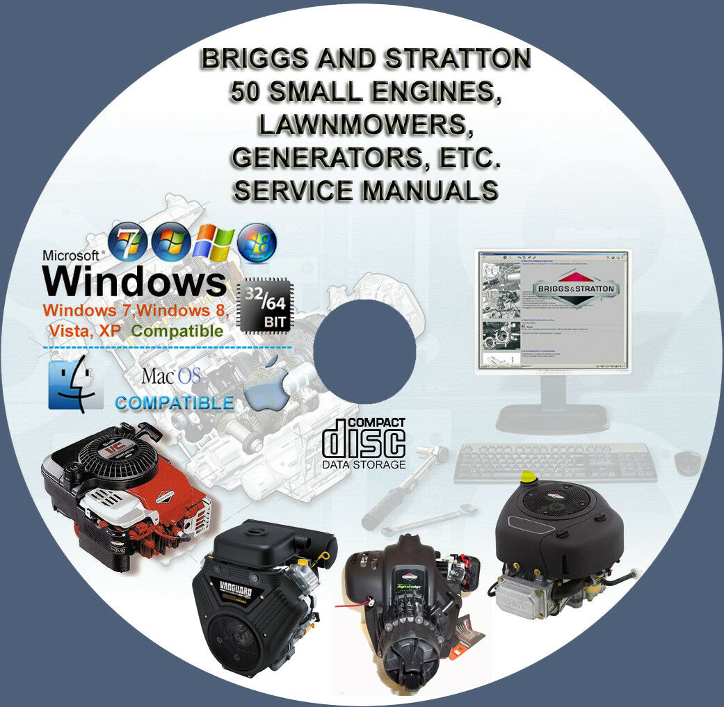 Briggs And Stratton More Than 50 Service And Repair Manuals On Cd 1 of  1FREE Shipping ...