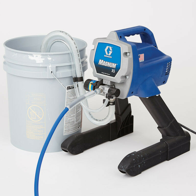Graco Magnum X5 Stand Airless Paint Sprayer: GRACO MAGNUM X5 Airless Sprayer LTS15 262800 1 Year