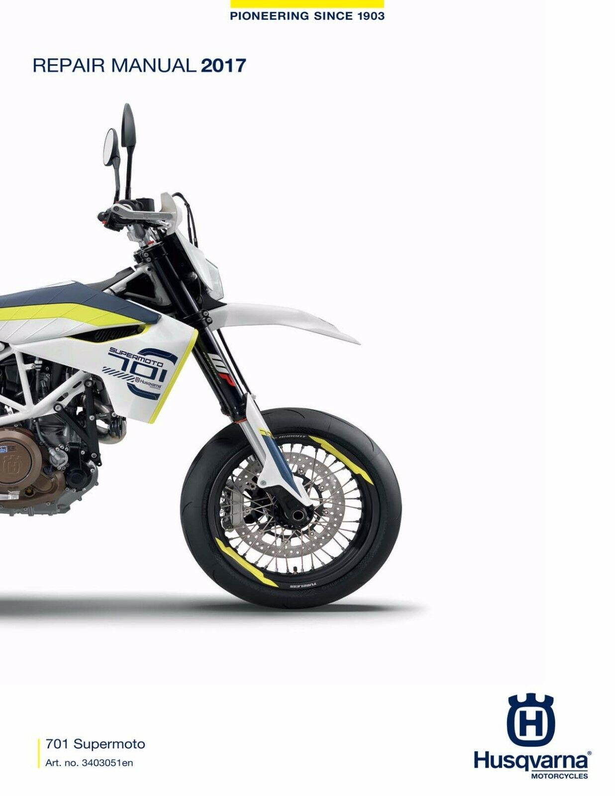 Husqvarna workshop service manual 2017 701 Supermoto 1 of 12FREE Shipping  ...