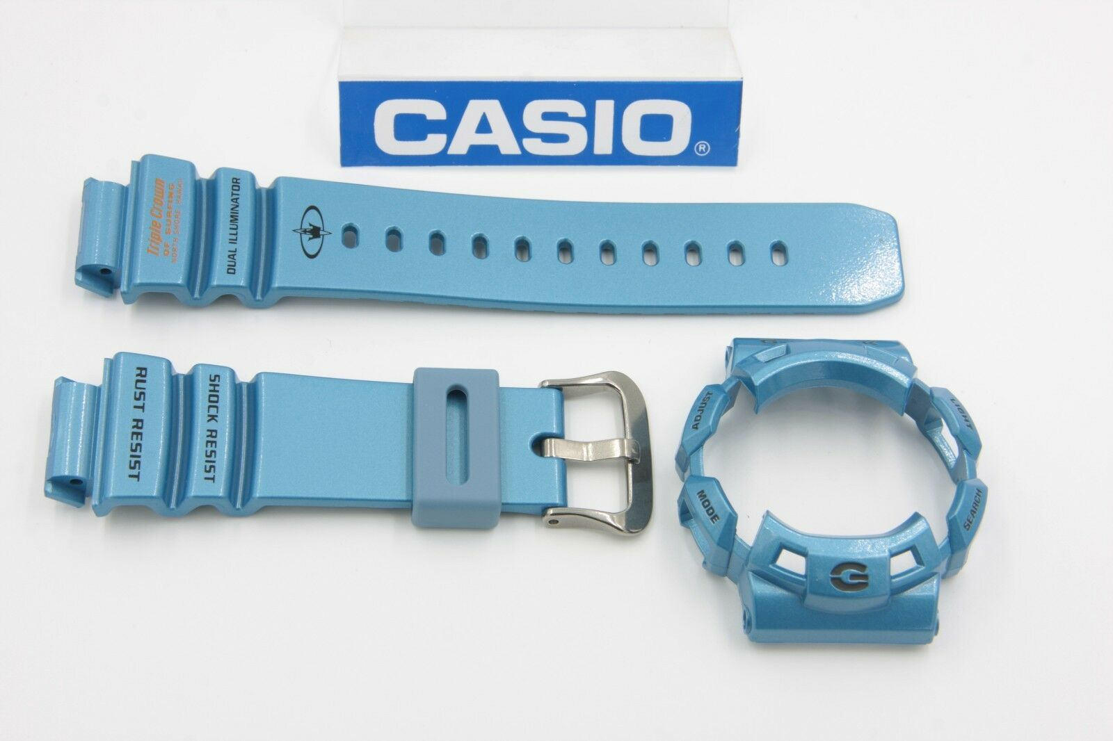 Original Casio G Shock Gulfman 9100tc 2 Glossy Blue Band Bezel Gax 100a 7adr Origina 1 Of 1only Available