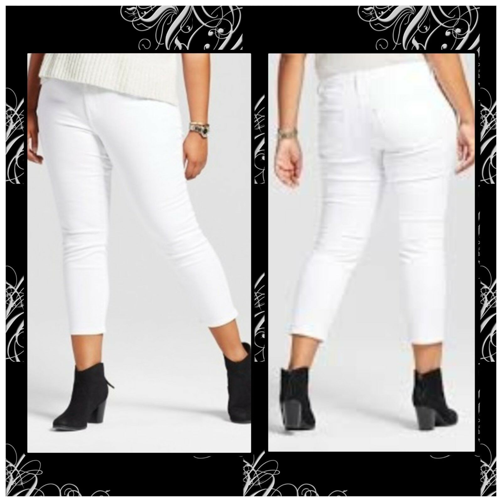 88a965bcf996e7 NEW * AVA & VIV CROPPED JEGGING Capri POWER STRETCH Plus Size 16W, 24W, 26W  1 of 7Only 4 available ...