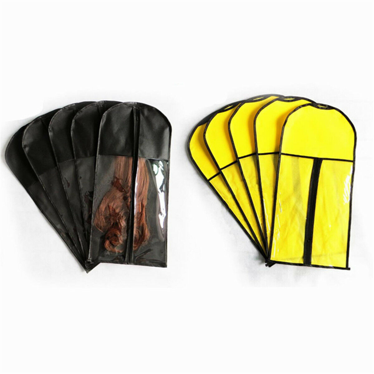 Wig Hangers Hair Extension Carrier Storage Case Wig Stands Dust Proof Bag 117