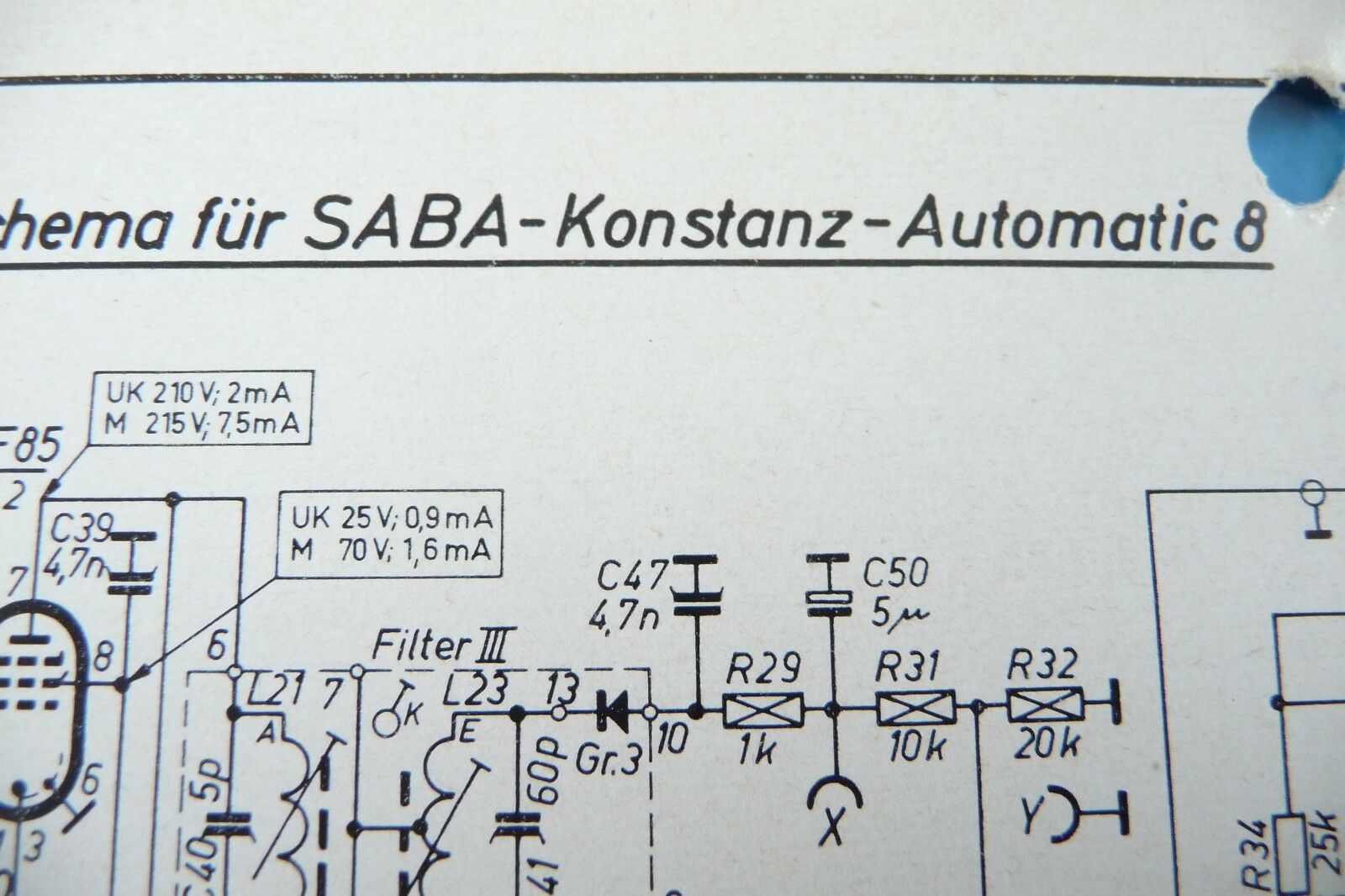 Service Circuit Diagram For Saba Konstantz Automatic 8 320 Dvb T 1 Of See More
