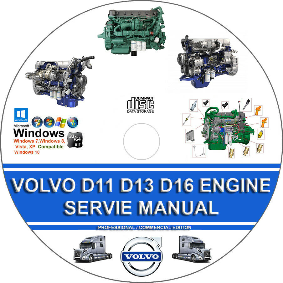 Volvo Truck D11 D13 D16 Engine Service Repair Manual + Operators Maintenance  Man 1 of 1FREE Shipping See More