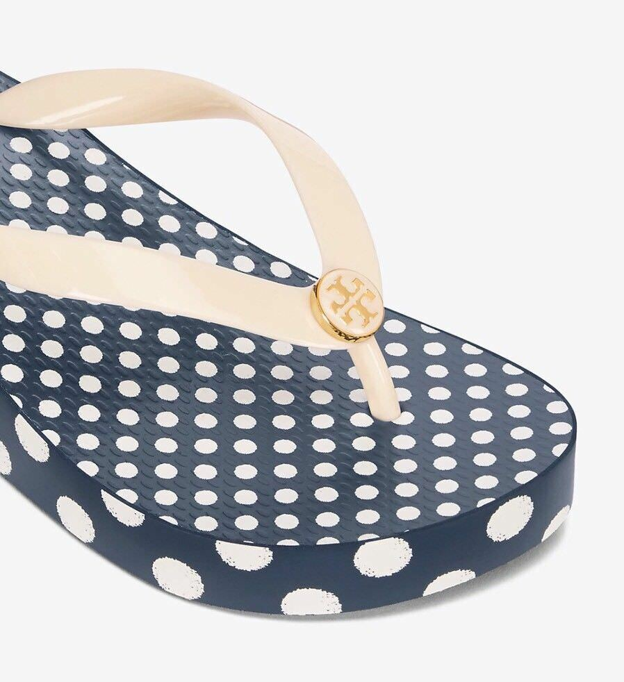 2c7ea31f4 L  K! NWT NEW Size 8 Tory Burch Wedge Flip Flop Ivory  1 of 5Only 2  available See More