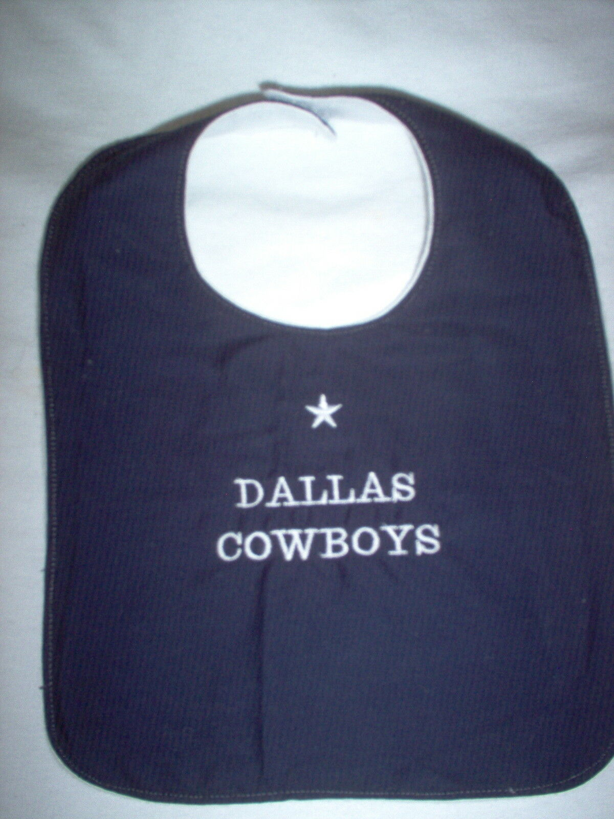 Dallas Cowboys Baby Bib 275 Picclick Nuby 3d Silicone Dress 1 Of 1only 4 Available