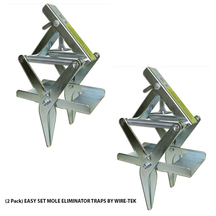 2 Pack Easy Set Mole Eliminator Traps Made In U S A By Wire Tek 1 Of 1free Shipping See More