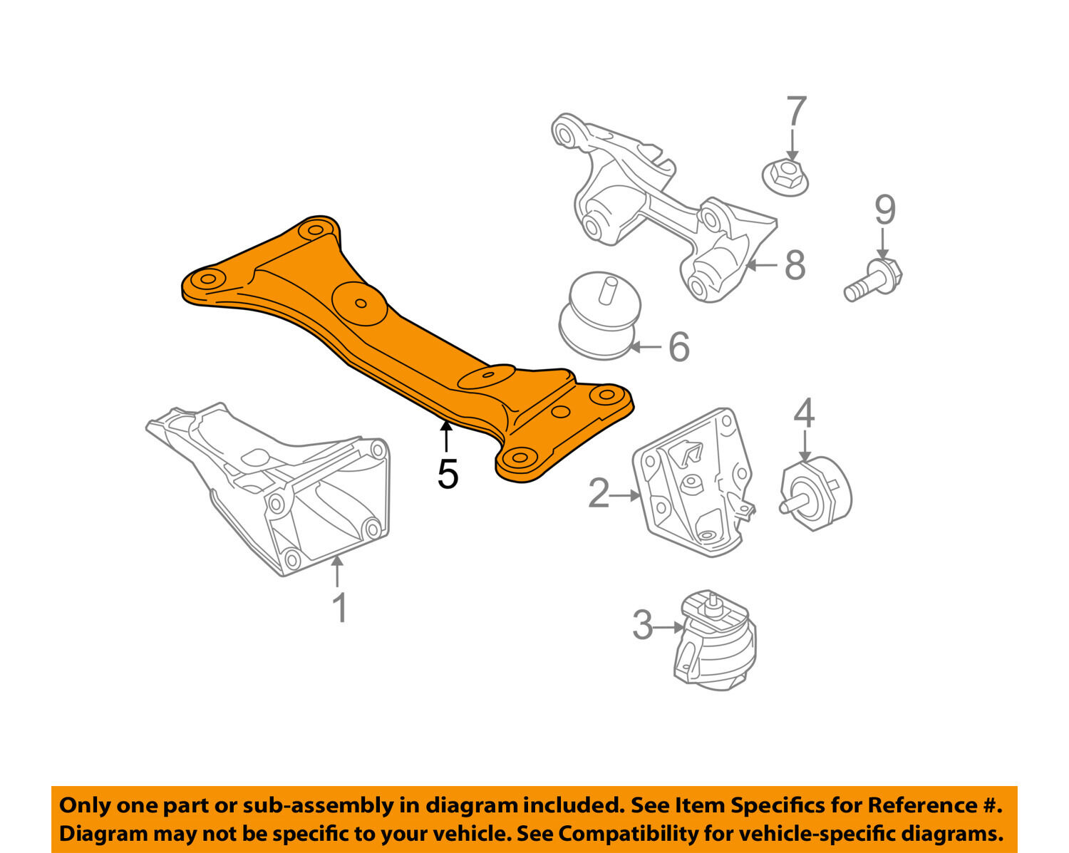 Bmw Oem 09 11 335d Transmission Trans Mount 22326778060 5171 Wiring Diagram 1 Of 1only Available