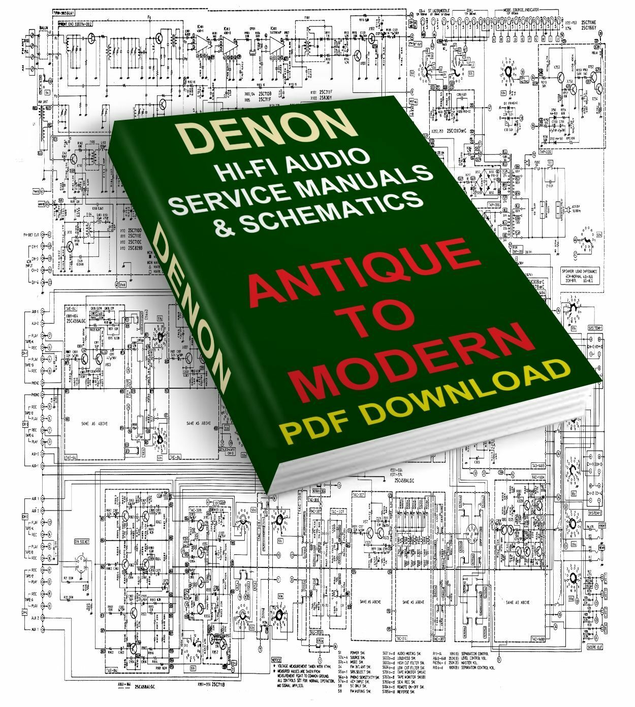 Denon Service Manuals & Schematics Antique To Modern Download 1 of 1FREE  Shipping ...