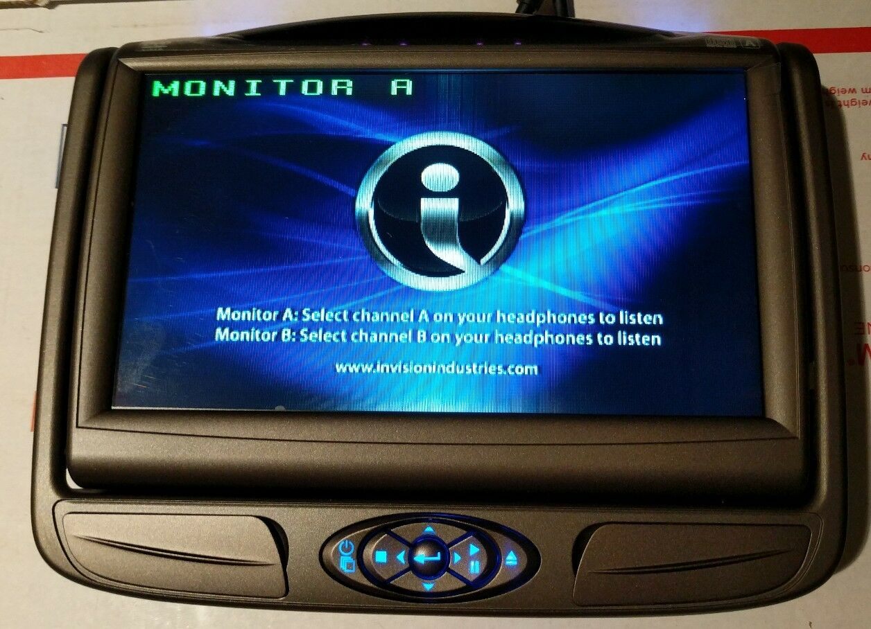 Invision Dvd Headrest Monitor Dslm7aa1 Factory Oem Slimline 7 Sl7 Nissan Wiring Harness 1 Of 6 See More