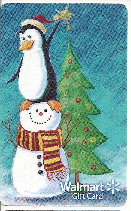 walmart christmas penguin snowman tree star topper 2013 gift card fd 36223 1 of 1free shipping