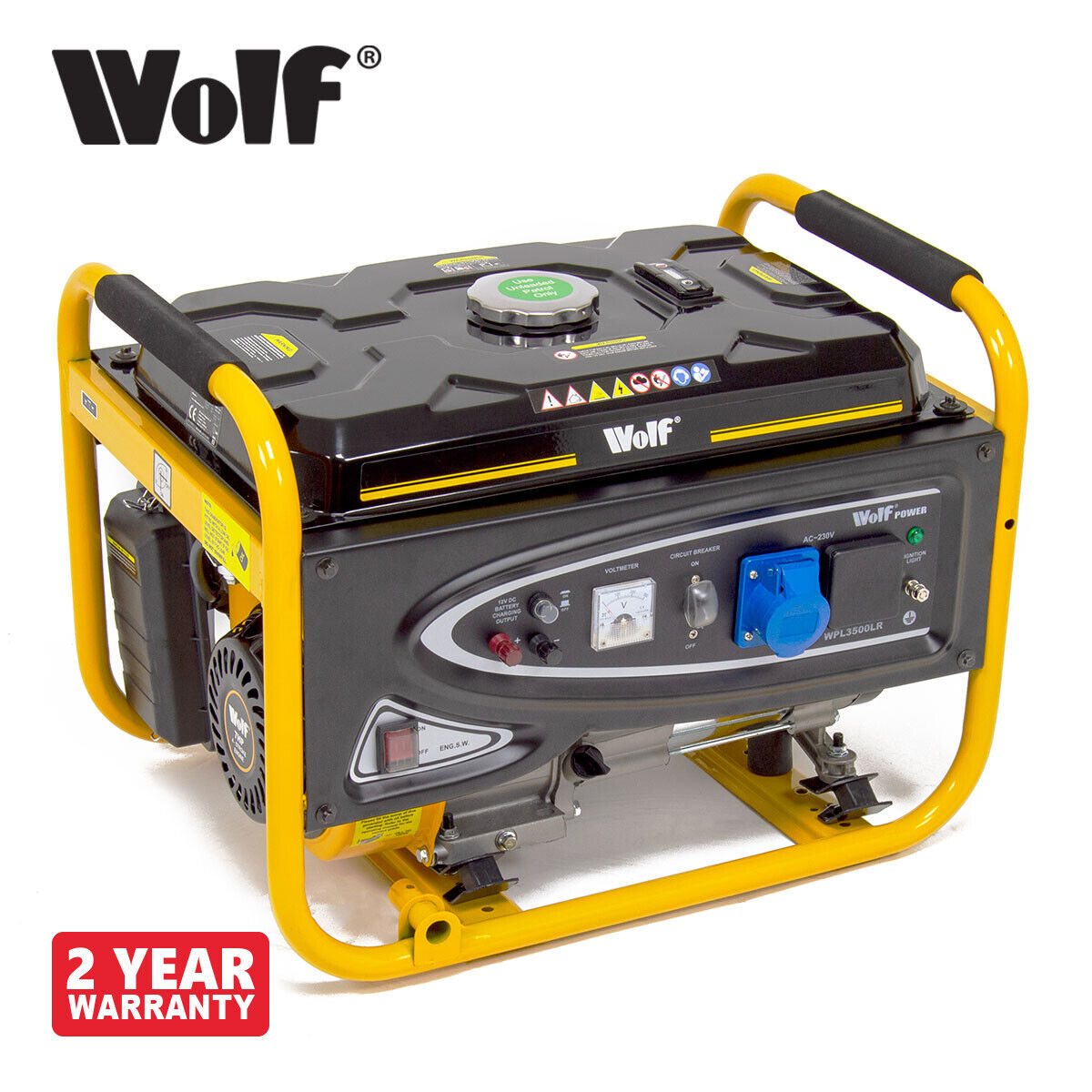 Petrol Generator 3200w 4kva 7hp 230v Quiet Portable 4 Stroke Circuit Breaker 1 Of 5only 0 Available